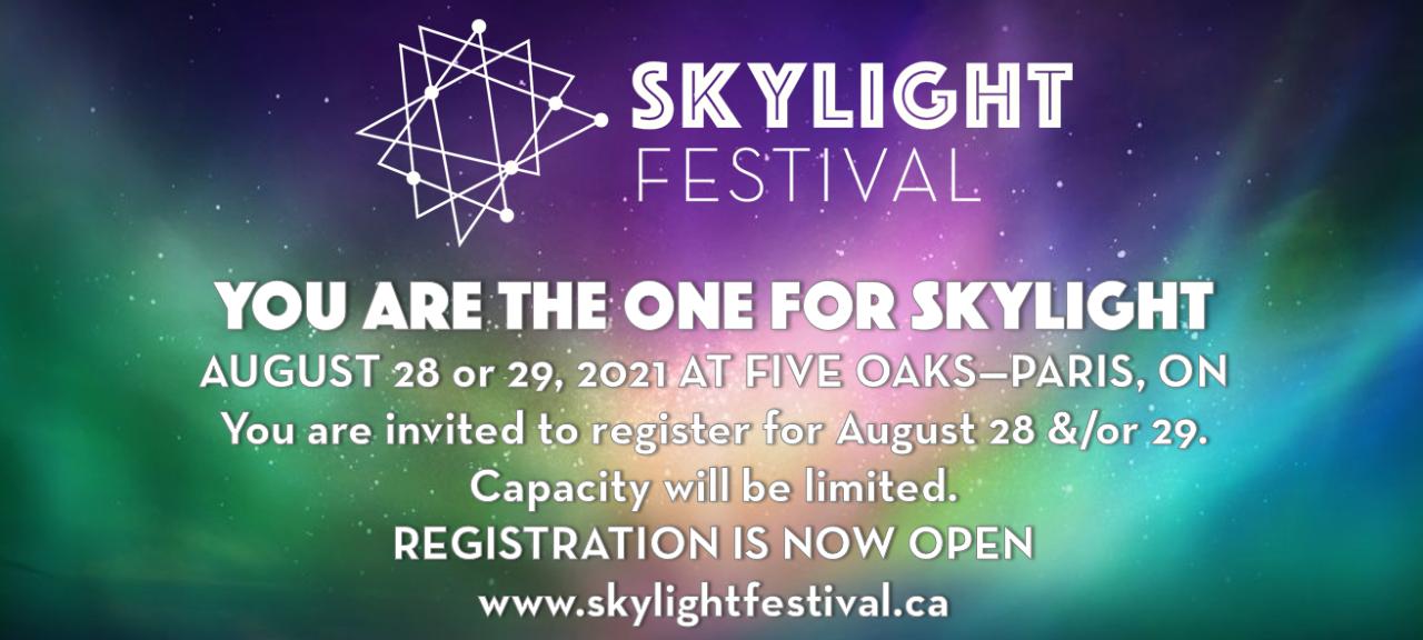 skylight festival banner